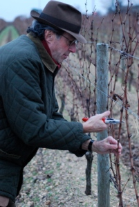 Christian Moueix: pruning away contentedly at Trotanoy.